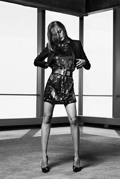 Saint Laurent  Season : Resort 2014  Designer & Photographer : Hedi Slimane  Model : Sasha Pivovarova