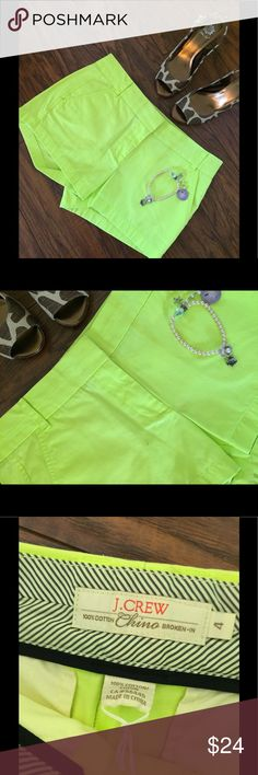 NWT J. Crew Chino Shorts 🌴🌴 As pictured. Color is accurate with the photo that shows the label.It's a lovely summer color. NWT. Measures a little over 16 inches across waist and has 3 inch inseam. I will be listing many colors in the same size. Please remember no lowball offers as I do not get these items free I search for treasures for you! Thank you for looking. I also will be listing a lot of beautiful WHBM tops in this size too that are also NWT. Shoes sold seperate. Anklet also…