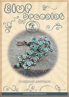 Tutorial bracciale / modello Eluf con perline di beadsbyvezsuzsi