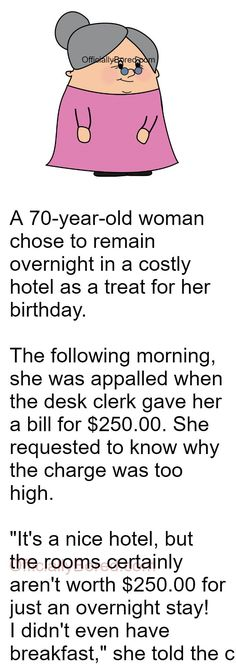 When a Hotel charged an old woman $250 for staying overnight | OfficiallyBored