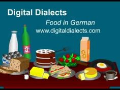 Food in German Video - vocabulary and pronunciation (by Digital Dialects)