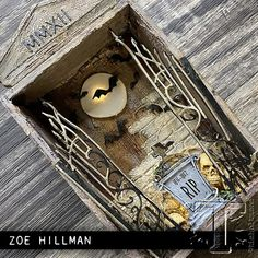 Halloween Shadow Box, Halloween Tags, Vintage Halloween, Fall Halloween, Halloween Mini Albums, Halloween Coffin, Halloween Scrapbook, Halloween 2020, Halloween Paper Crafts