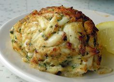 Crab Cakes From the Dean & Deluca Cookbook. These crab cakes are baked and broiled and contain no bread or other fillers.From the Dean & Deluca Cookbook. These crab cakes are baked and broiled and contain no bread or other fillers. Crab Cake Recipes, Fish Recipes, Seafood Recipes, Cooking Recipes, Healthy Recipes, Crab Cakes Recipe Best, Blue Crab Recipes, Lump Crab Meat Recipes, Salads