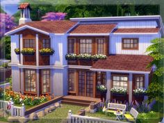 The Sims Resource: V 08 Fully Furnished house by Vidia • Sims 4 Downloads