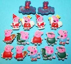 16 Peppa Pig Cake Decoration Shoe Charms - $7.99 + $2.00 postage - eBay deborahrobbins