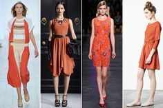 Tangerine Tango — As Pantone's color of 2012, this sunny hue has already cut its way into designer psyches, popping up mostly in dresses and coats.