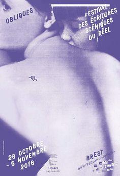 Formes Vives, affiche pour le festival Obliques, Théâtre du Grain, sérigraphie 1 ton, imprimerie Lézard Graphique, 60 exemplaires, octobre 2016