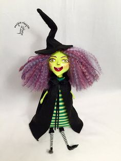 Handmade The Wicked Witch Ooak Art Doll par aespiedesigns sur Etsy