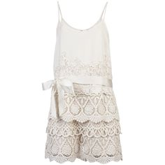 RED VALENTINO Lace romper ($725) ❤ liked on Polyvore