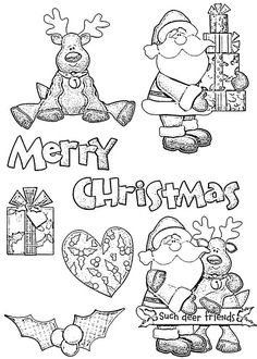 Nitwits Collection - Christmas - Deer Friends - clear stamps - SPECIAL OFFER