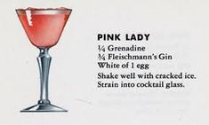 Image result for pink lady cocktail