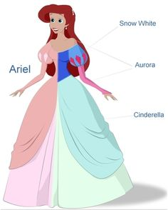 It all just makes sense now! Disney combined all the dresses of the 3 pricesses before her!!!!