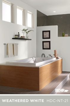 This new year, we're bringing it back to the basics with these traditional white Behr Paint colors. With plenty of different shades to choose from, you can find the perfect neutral hue for the interior and exterior of your home. Get inspired by the clean and modern style of this bathroom, kitchen, and more. Click below to explore these white and gray paint colors for yourself.