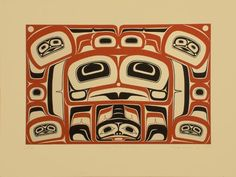 Frog Box Design Freda Diesing (Haida) Northwest Coast 1979