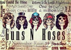 As melhores músicas de Guns n' Roses!!!
