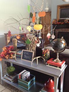 Thanksgiving Thankful Tree.  Modern Palm Boutique