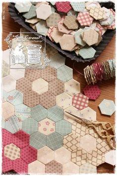 Elm Cottage 5 hexagons hexi quilt