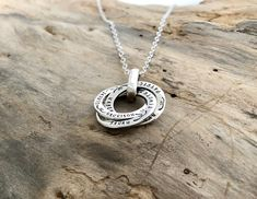 Excellent Quality, made to last - Russian Ring Mother's Name Necklace All item on sale now ...excludes add on items Family Necklace, Name Necklace, Russian Ring, Jewelry Cleaning Solution, Silver Wings, Mom Jewelry, Custom Jewelry Design, Hand Stamped Jewelry, Personalized Jewelry