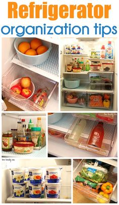 Organizacion - organizer - GREAT refrigerator organization tips! Refrigerator Organization, Household Organization, Kitchen Organization, Refrigerator Storage, Refrigerator Freezer, Organized Kitchen, Organisation Hacks, Organize Your Life, Organizing Your Home