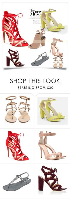 """botky na léto"" by chrisstinne on Polyvore featuring Valentino, JustFab, ALDO, Gianvito Rossi, IPANEMA and Sam Edelman"