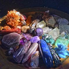 Care and feeding of crystals <3 These are some of my prized possessions, and I'm taking them out to sunbathe and light-charge them, infusing them with the manna of solar energy ahead of the Spring Equinox on March 20. What are your crystal daily rituals? How do you take care of your babies?