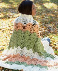 Neutral Melon Crochet Ripple Afghan | AllFreeCrochetAfghanPatterns.com