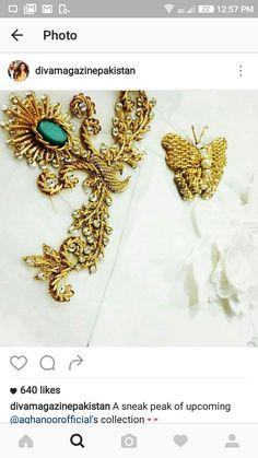 Perfect for Saree border Zardozi Embroidery, Hand Embroidery Dress, Embroidery Motifs, Hand Embroidery Patterns Free, Maggam Work Designs, Fabric Embellishment, Designer Blouse Patterns, Crochet Wool, Bridal Blouse Designs