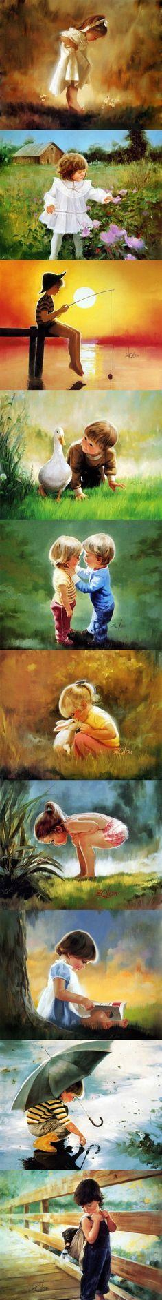 Donald Zolan Golden childhood Oil Painting