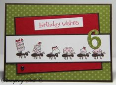 Partying ants by mum of 2+2 - Cards and Paper Crafts at Splitcoaststampers