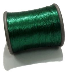 1 Spool Metallic Dark Green Embroidery Thread, Hand/Machine Embroidery Thread…