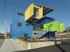 awesome container house - stack em up and live in them!