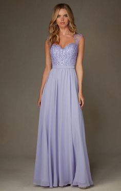 Elegant Lilac Long Bridesmaid Dress BNNCL0015