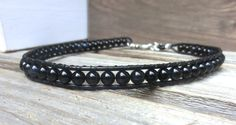 Mens Unisex Japanese Goth Black Handmade Choker Necklace Double Leather Wrap Bracelet by OffOnAWhimJewelry, $54.00 offonawhimjewelry.etsy.com