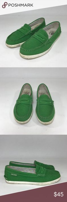 Cole Haan Green Loafers WEBSITE - WWW.THECHICAGOCONSIGNMENT.COM  INSTAGRAM - @CHICAGOCONSIGNMENT  CONDITION - Very good  BRAND - Cole Haan  SKU - 640-SHAS  RETAIL PRICE - $165   SIZE - 6.5  FIT - Regular/Medium  MATERIAL - Cotton  LENGTH -   BUST -   WAIST -   HIP -   RISE -   SLEEVE LENGTH -   INSEAM -   ANKLE -   INSOLE MEASUREMENT -   COLOR - Green  STRETCH -   ADDITIONAL INFO -   NOTE - NO TRANSACTIONS OFF POSH.  WE BUNDLE DISCOUNT AND ACCEPT…