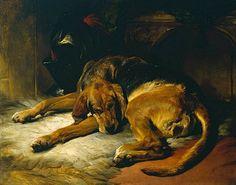 Edwin Henry Landseer Sleeping Bloodhound  1835