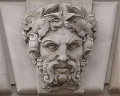 Limestone Mascaron, Male, EPA Building, Washington, D.C.   Flickr - Photo Sharing!