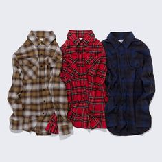 🍒 Plaid check shirt [yellow] Plaid check shirt [red] Plaid check shirt [blue] . . . . #kirsh #키르시 #16aw #achromatic #shirt