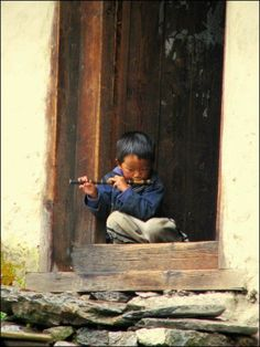 Boy playing flute in Nepal. We Are The World, People Of The World, Small World, Precious Children, Beautiful Children, People Photography, Children Photography, Boys Playing, Baby Kind