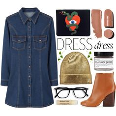 Winter Dress by katerin4e-d on Polyvore featuring moda, MANGO, Tory Burch, Chanel and Fig+Yarrow
