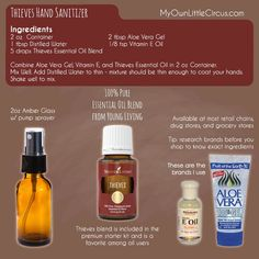 Easy diy thieves hand sanitizer recipe my own little circus homemade natural hand sanitizer with essential oils homemade sanitize diy natural hand sanitizer Thieves Essential Oil, Essential Oil Blends, Young Living Oils, Young Living Essential Oils, Young Living Thieves, Diy Sanitisers, Easy Diy, Diy Crafts, Aloe Vera