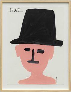 David Shrigley . hat, 2013