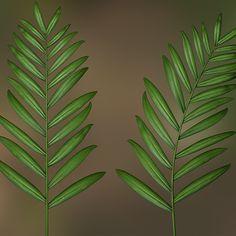 Bamboo Palm Leaves, Mark Bos on ArtStation at https://www.artstation.com/artwork/z5mgZ