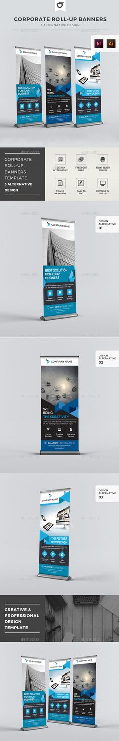 Corporate Roll-up Banners Template #design Download: http://graphicriver.net/item/corporate-rollup-banners/12598283?ref=ksioks