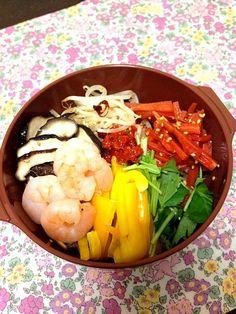 冷蔵庫のお野菜たちをナムルに( ´ ▽ ` )ノ - 15件のもぐもぐ - 野菜たっぷりビビンバ弁当♡ by seiko1201