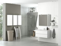 The Dansani Zaro range allows you to create more than simply a connection between furniture and space. Every aspect of the lighting has been carefully considered, and you can use ceiling spots, wall lamps and pendants that match the lighting in your mirrors or mirror cabinets to create a uniquely coherent interior design.