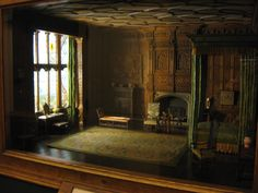 'Another of the Thorne miniature rooms at the Chicago Art Institute.  These historically accurate miniature rooms will be pinned to this board as I stumble upon them.'  JT (always in my own words)