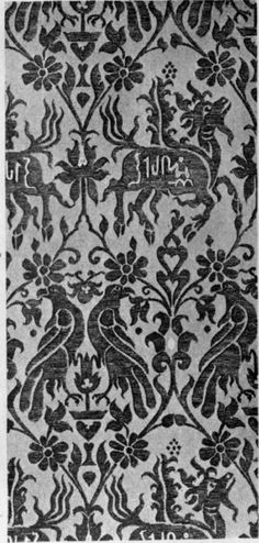 14th Century Sicilian Silk Pattern