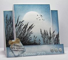 Try this background with Wetlands stamp (stamp images in black).....