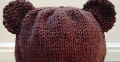 Little Miss Stitcher: Bear Cub Knit Hat Pattern For Toddlers