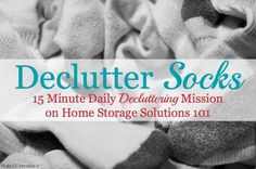 Sock Organization, Household Organization, Clutter Control, Home Storage Solutions, Home Management Binder, Clutter Free Home, Homekeeping, Peace Of Mind, Getting Organized